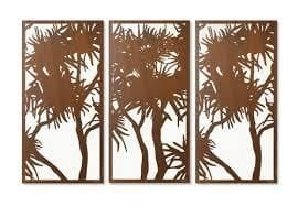 'Pandanus Set of 3' screens (surplus)