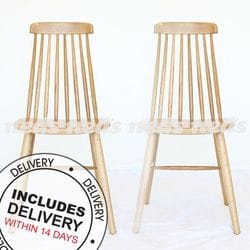 Marjorie Spindle Back Dining Chair Oak - Set of 2