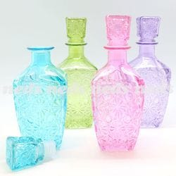Glass Etched Liquor Bottle - 24cm