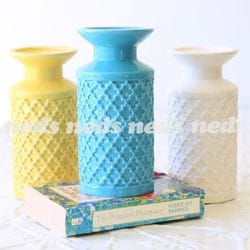 Ceramic Moroccan Candle Holders - 3 Asst Colours