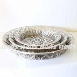 Moroccan Inspired Serving Bowls - 3 Asst Sizes
