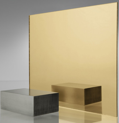 Acrylic Gold Mirror Cast Sheet 300 x600 x 3mm Single Side