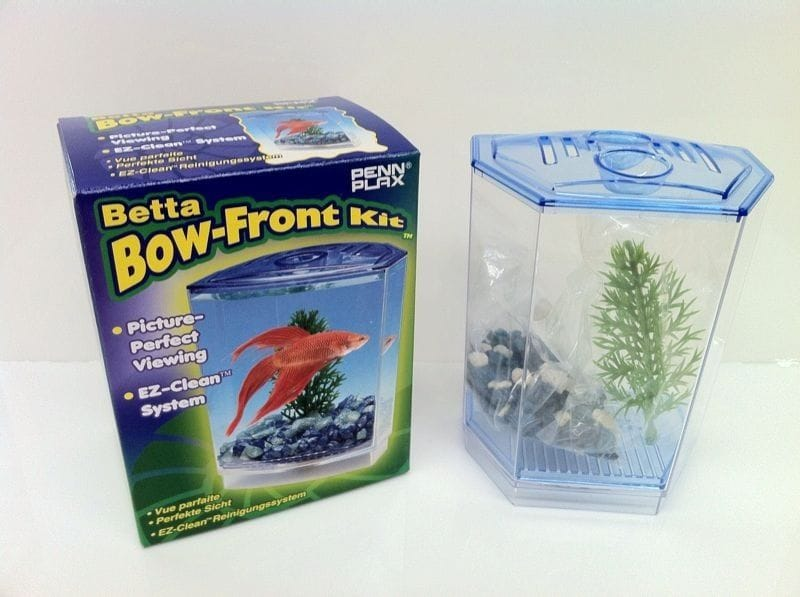 Betta Bow Front Kit little fish tank. Special Sale. Christmas Gift. Ez Clean.