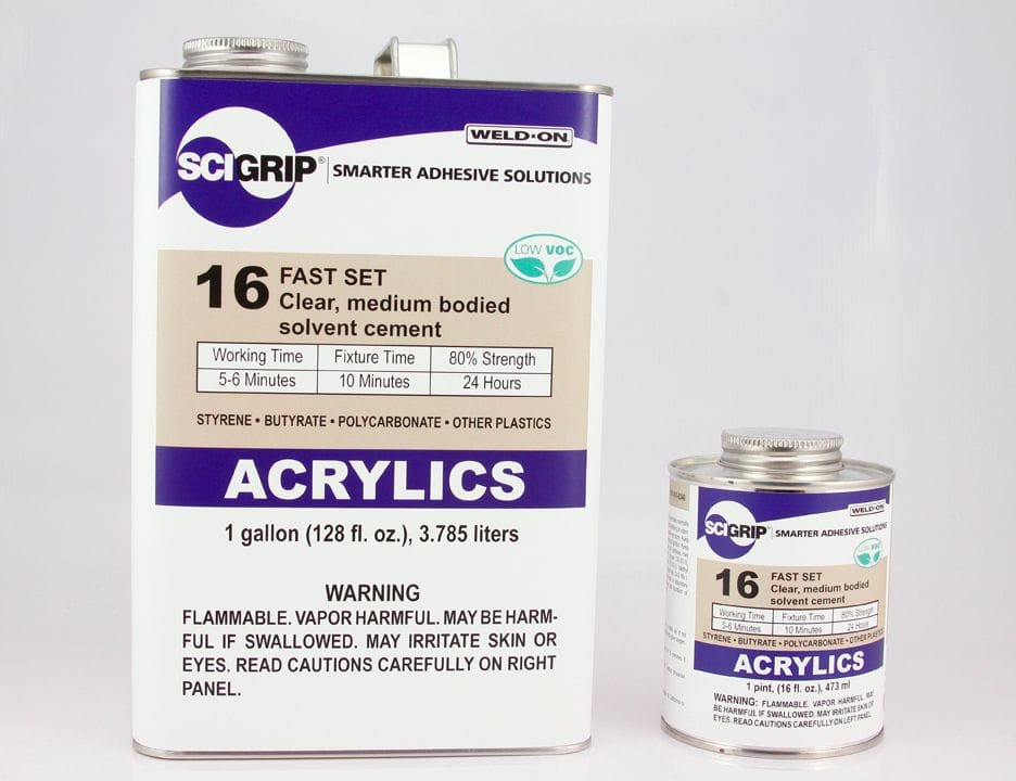 SCIGRIP IPS WELD-ON 16 Clear Acrylic Cement