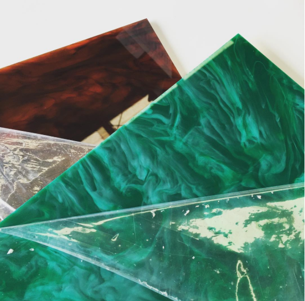 Coloured Cast Marble and Granite Acrylic Sheet