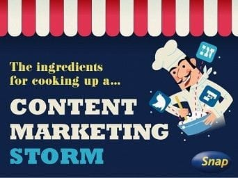 Snap: The ingredients for cooking up a content marketing storm