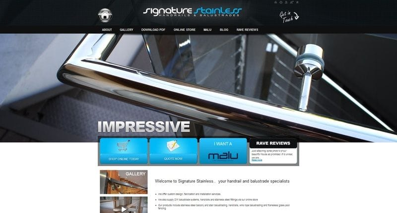 New Signature Stainless Website Launched!