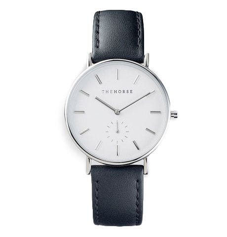 The Horse Classic Polished Steel Blk Leather
