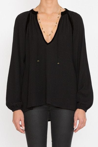 Goddess of Babylon Harvest Moon Blouse Black