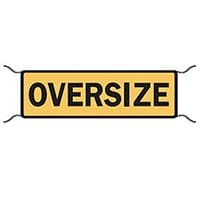 Oversize Warning Sign Tarp