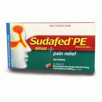Sudafed PE Sinus + Pain Relief 24 tabs