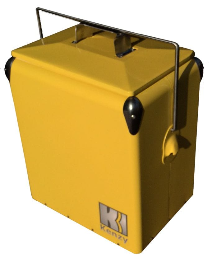 17L Yellow Retro Cooler