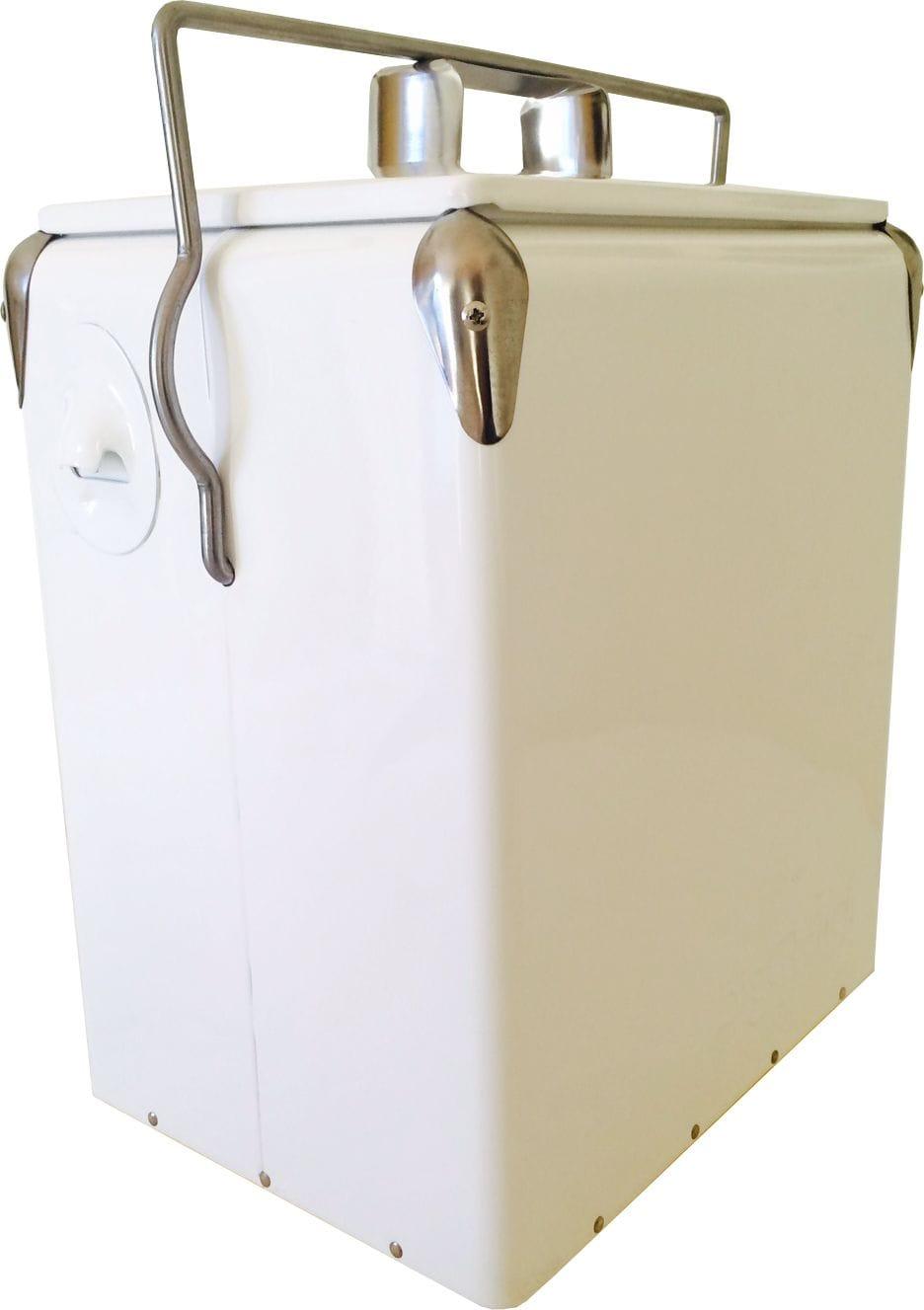 17L White Vintage Cooler