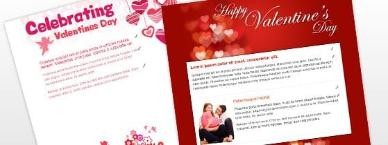 We've added Valentine's Day Email Templates to your Database Marketing account