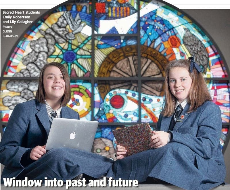 A Window gives insight into the story of Sacred Heart College, Geelong