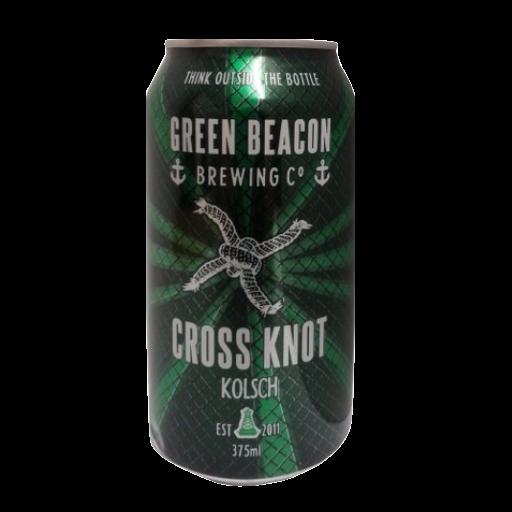 GREEN BEACON CROSS KNOT CAN SGL 355ML