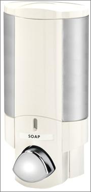 AVIVA Dispenser 1 - White with Chrome Button