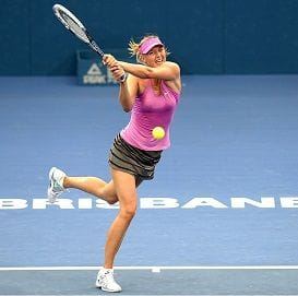 BRISBANE INTERNATIONAL READY TO MAKE A RACKET