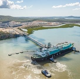 GLADSTONE PRODUCES FIRST GAS BUT COSTS SANTOS $1 BILLION