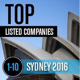 2016 SYDNEY TOP LISTED COMPANIES 1-10