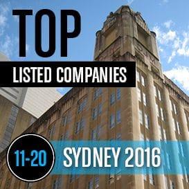 2016 SYDNEY TOP LISTED COMPANIES 11-20
