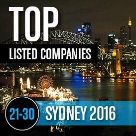 2016 SYDNEY TOP LISTED COMPANIES 21-30