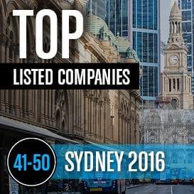 2016 SYDNEY TOP LISTED COMPANIES 41-50