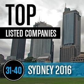 2016 SYDNEY TOP LISTED COMPANIES 31-40