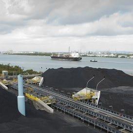 BRISBANE COAL TERMINAL REOPENS AFTER SHIPLOADER REPAIR