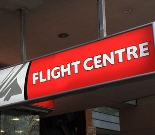 VOLATILE INDUSTRY CLIPS FLIGHT CENTRE'S WINGS