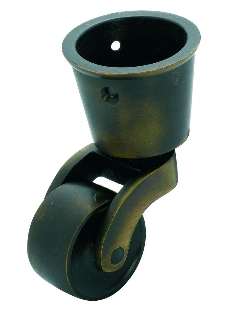 Cup Castor Antique Brass 32mm3535