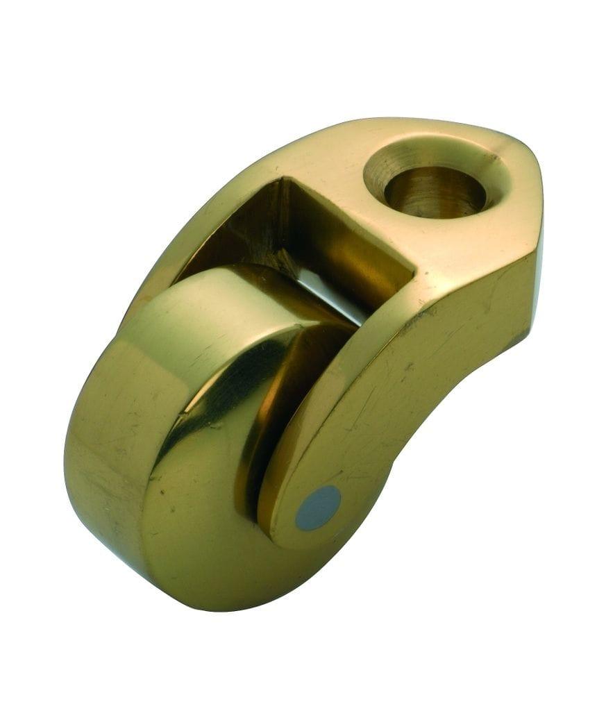 Bed Castor Polished Brass 32mm3542