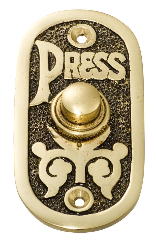 Bell Push Polished Brass/Black Background5501