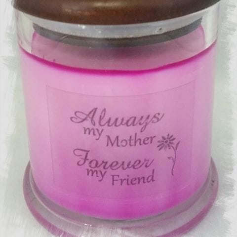 Raspberry Peach Mothers Day Candle