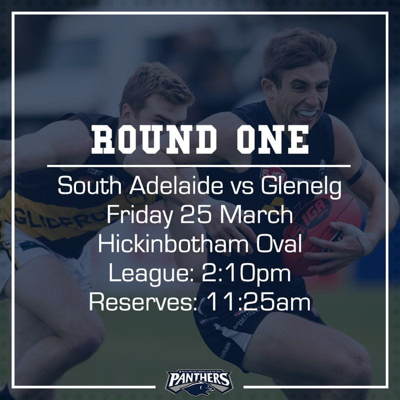 Round One: South vs Glenelg - Teams