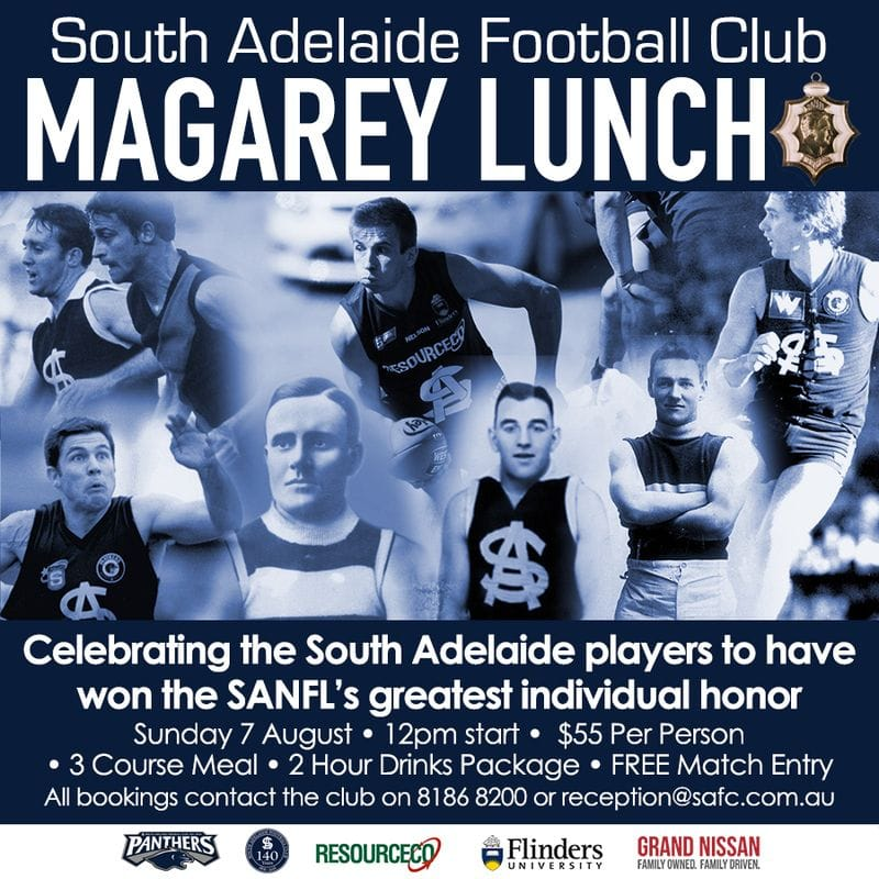 Panthers Magarey Medal Lunch vs Sturt