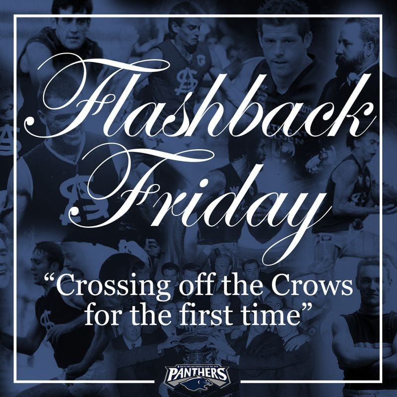 Flashback Friday: Crossing off the Crows for the first time
