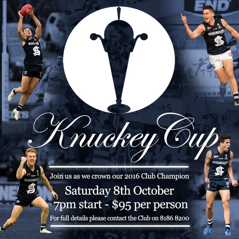 Knuckey Cup - Save the Date!