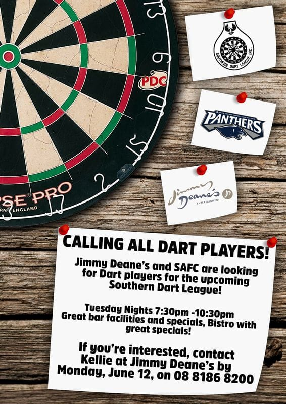 Join the Panthers Southern Dart League team!