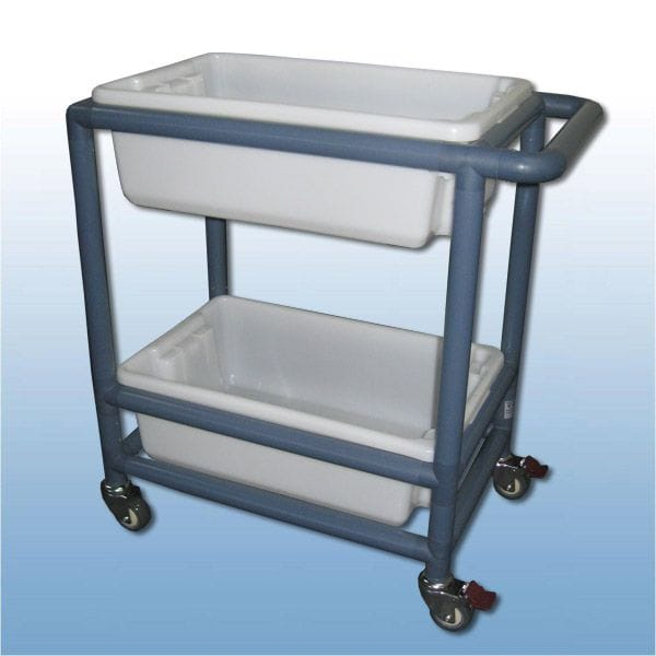 Utility trolley (2 x shelf with containers)