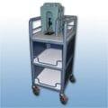 3 x Shelf single bay enclosed urn cart