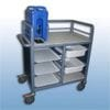 2 x Bay Enclosed single urn trolley with trays and tubs