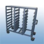 Triple Bay 24 x Tray service trolley with recessed top