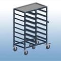 Double Bay 14 x tray service trolley with recessed top