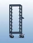 Single Bay 8 tray service trolley with solid top