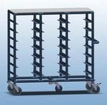 Triple Bay 21 x Tray service trolley with solid top