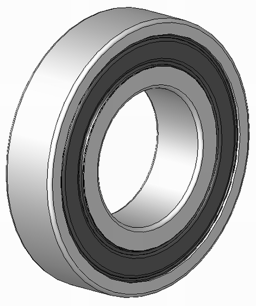 Bearing, M12, 6001 2RS, Sealed