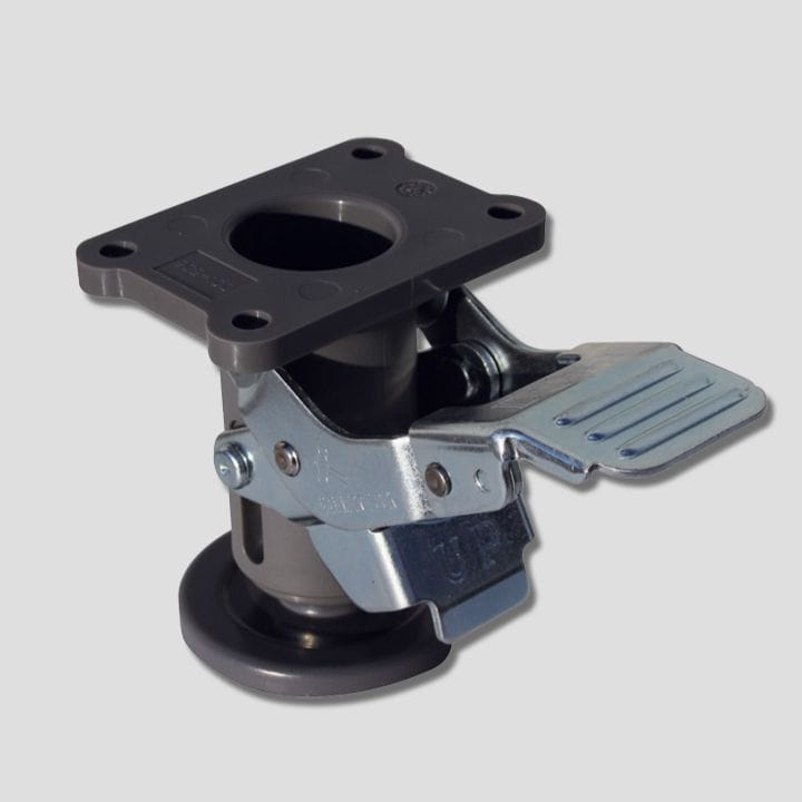 Friction Pad Floor Lock, grey, 909-100