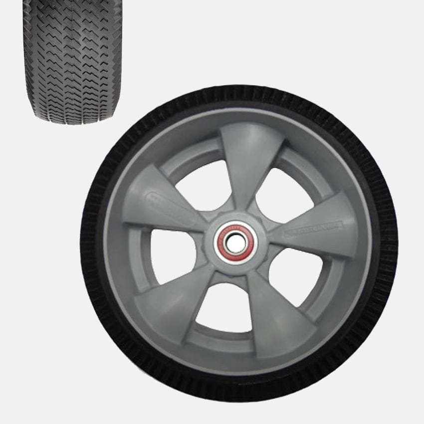 "Wheel, 250x90mm (10"") microcellular foam, Puncture resistant"