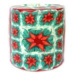 Poinsettia candle